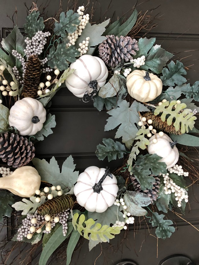 Emphasis on muted colors and textures makes for a great fall wreath