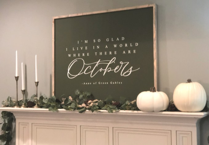 Modern Farmhouse Fall Decor Includes Graphic Signs