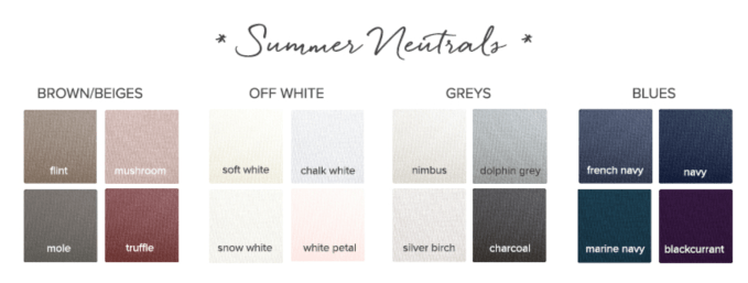 Neutrals for a Summer Seasonal Color Palette