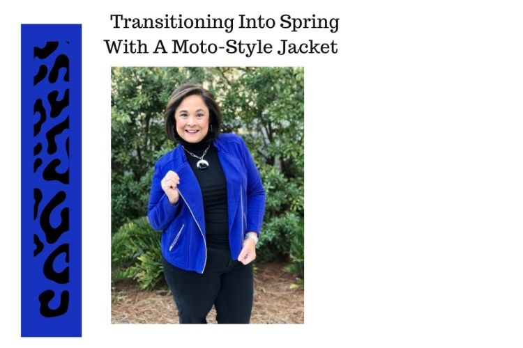 Transitioning Into Spring With A Moto-Style Jacket