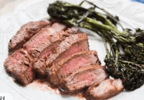 Another easy Keto Diet recipe is steak cooked in an air fryer with a low carb vegetable