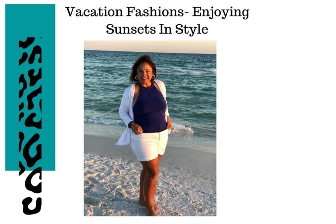 Vacation Fashions - Enjoying Sunsets in Style