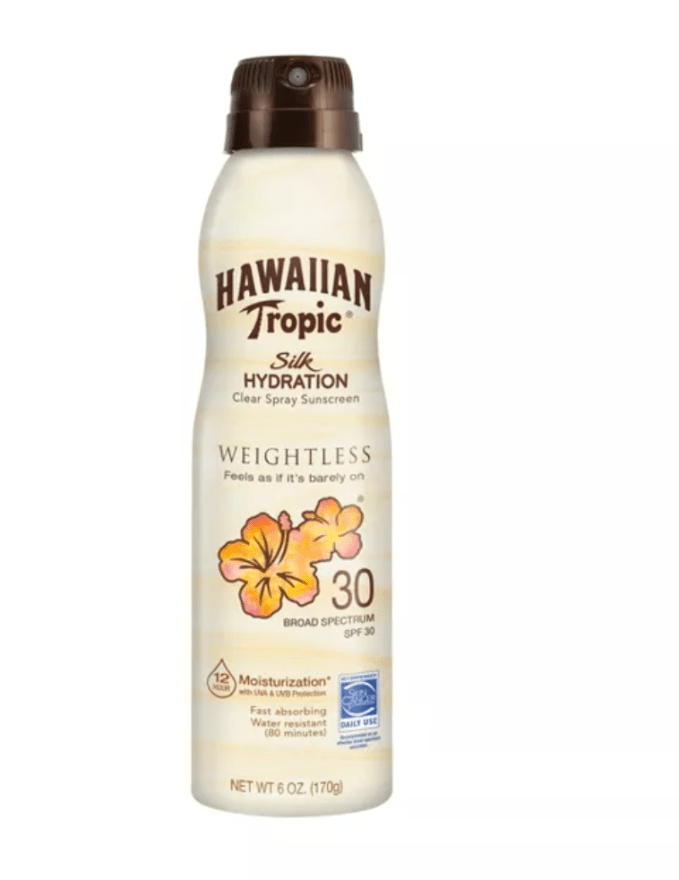 Summer Skincare- Body Sunscreen from Hawaiian Tropic. The scent makes you think of the summers of your youth!