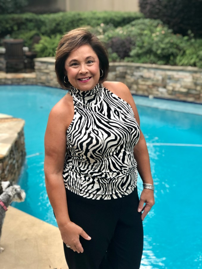 Black and White Zebra print halter top from Boston Proper is great date night look for early fall