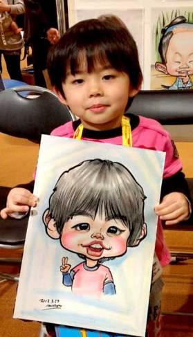 子供におススメの似顔絵です。