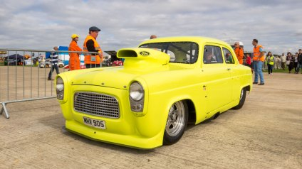Ford Prefect/Popular, Hot rod and dragster racing, Sywell Classic Pistons and Props show Sept 23 - 24 2017, Sywell Aerodrome, Northamptonshire, England