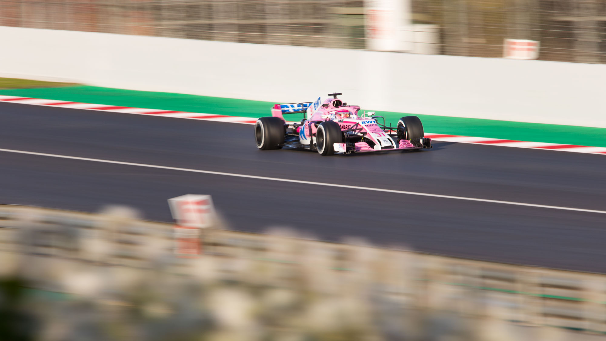 Esteban Ocon, Force India, Formula 1 testing, Barcelona 2018