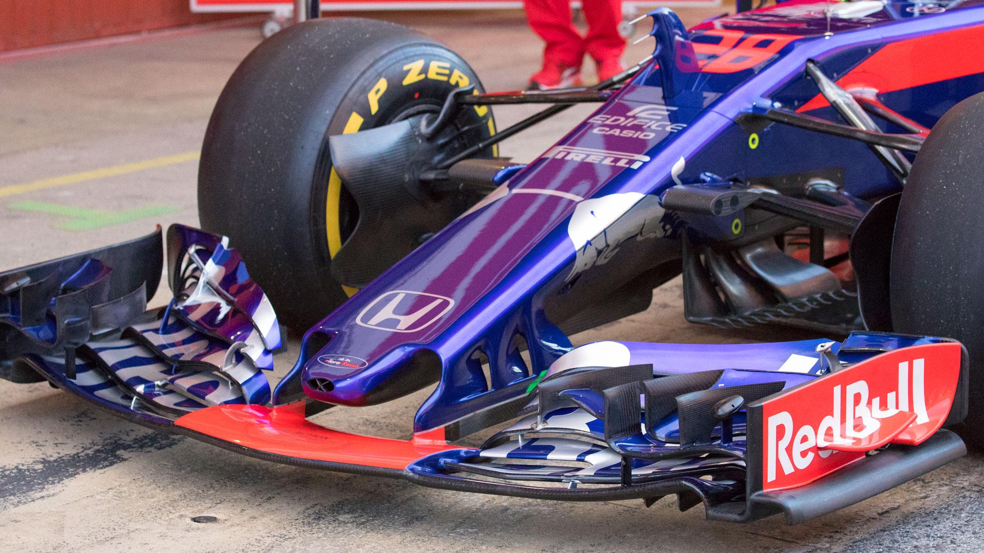 Front wing, Toro Rosso Honda, Formula 1 testing, Barcelona 2018