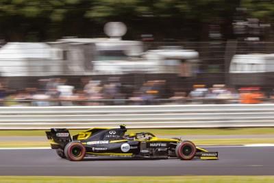 Nico Hulkenberg on track, Friday practice.F1 British Grand Prix, 2019, Silverstone