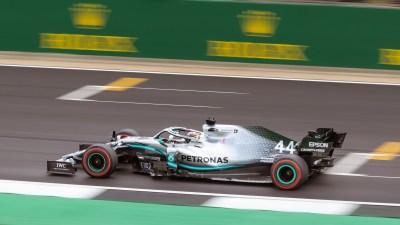 Lewis Hamilton during Friday Practice. F1 British Grand Prix, 2019, Silverstone