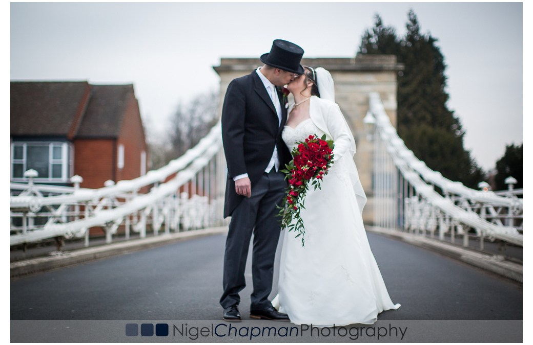 Hedsor House Wedding Couple Kiss