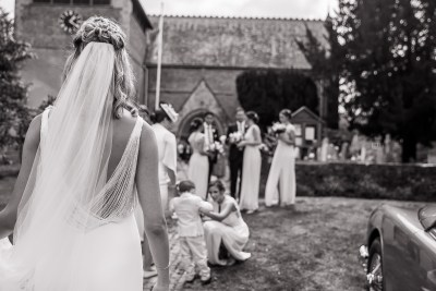 Bride At Church Waiting