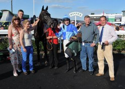 Sedgemoor Express in the winners enclosure at Uttoxeter