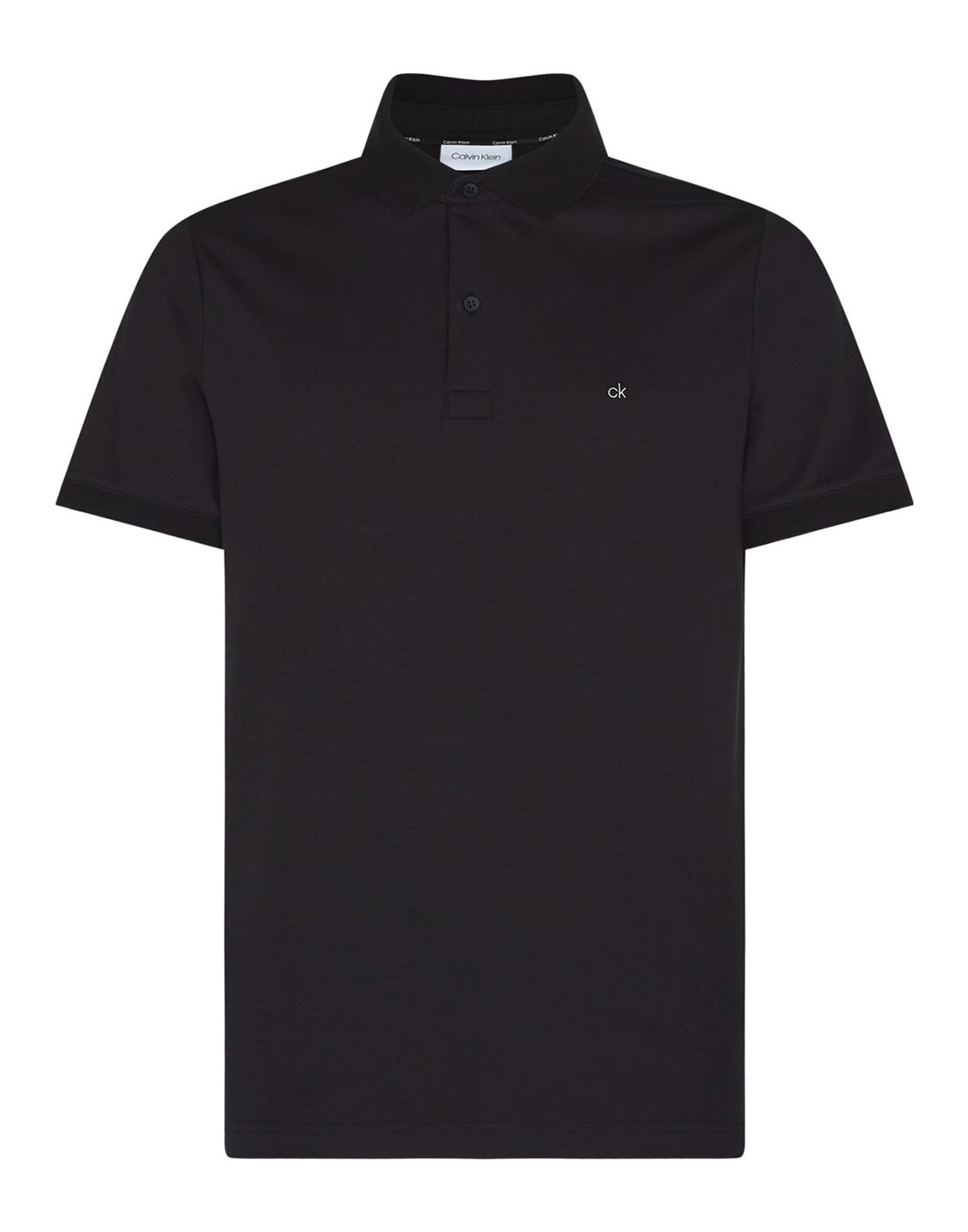 calvin klein black polo shirt with small badge
