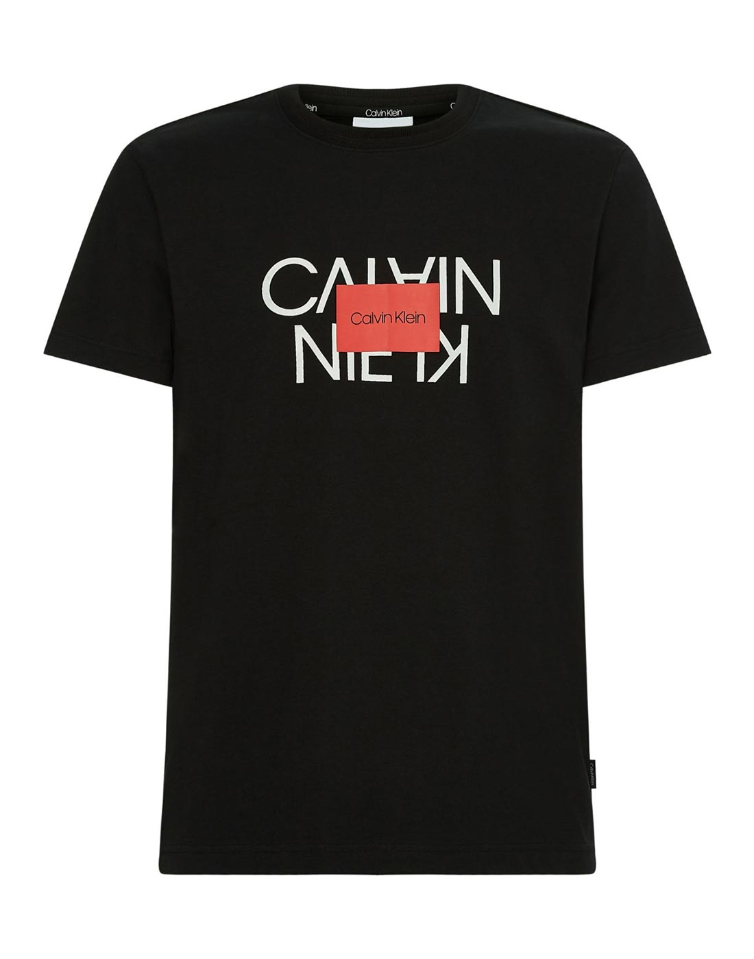 calvin klein black t shirt with red print