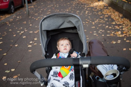 This little guy loves sitting in his pram watching the world go by. To be fair, getting pushed around while you have a cosy blanket, then getting fed when you're hungry and having a nap whenever you want is a pretty sweet deal. He's still super cute. :)