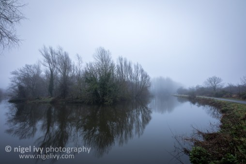 It was a super foggy day today. I got out this morning before a hectic day and took this photo of the River Lagan, just near the Lagan Meadows here in Belfast.