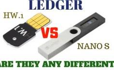 Ledger Nano s Vs Ledger Hw.1 bitcoin hardware wallet