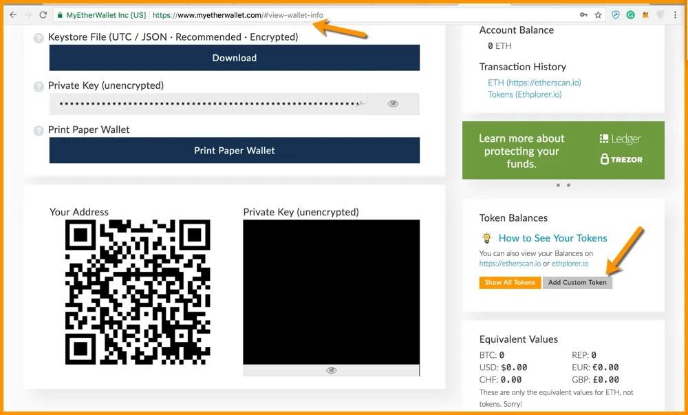 MyEtherWallet [MEW] Tutorial; 5 Steps to Add a Custom Token