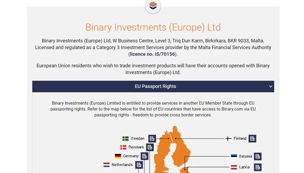 binary investment