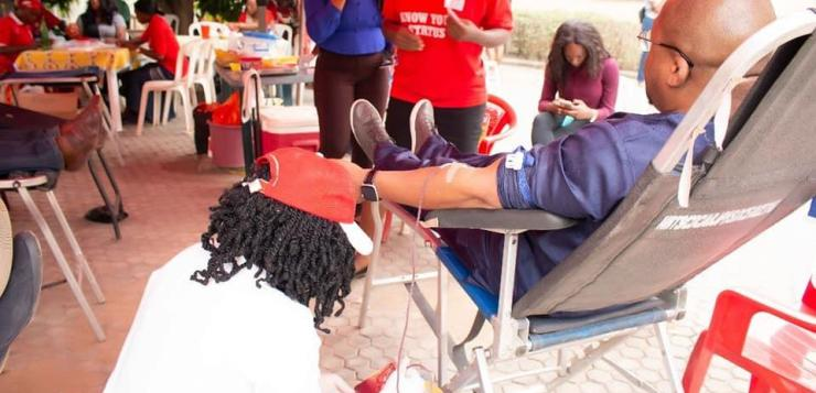 Life is in the Blood: Talk Show Host drives donations to FCT blood bank