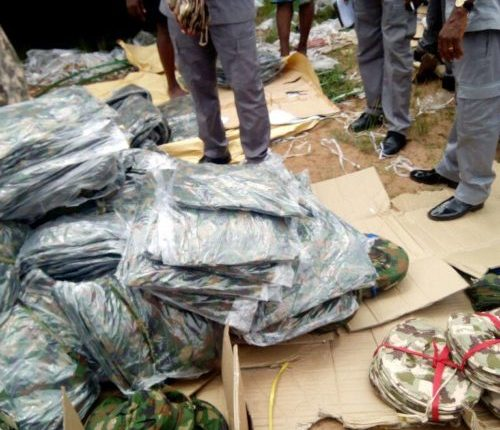 Customs seizes bales of Mobile Police, Immigration, Navy uniforms in Lagos.
