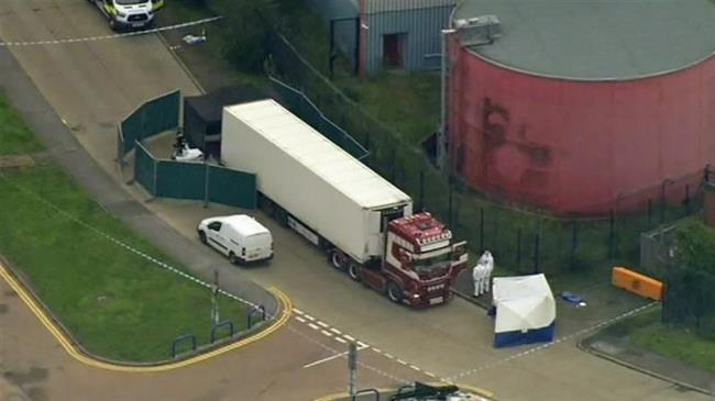 39 bodies found in truck container in UK