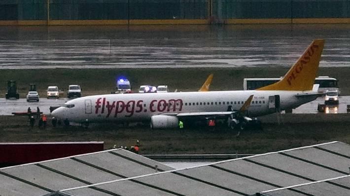 164 passengers escape death as plane skids off runway