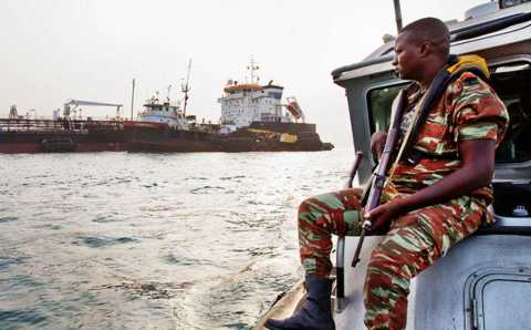 Pirates stranded onboard Container Ship in Gulf of Guinea