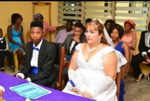 Young 'Yoruba' Man From Ekiti State Marries His Older British Lover For Visa (See Photos)