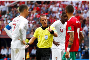 Referee Who Officiated Portugal vs Morocco 'Asked Pepe for His Shirt in the First Half'