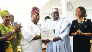 Davido's Uncle and Bred' Dad, Senator Ademola Adeleke Involve in Certificate Scandal