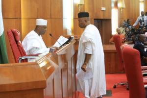 Akwa Ibom PDP Writes Bukola Saraki, Demands Godswill Akpabio's Recall