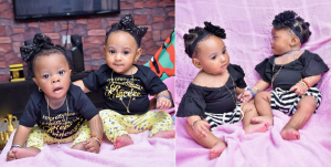 Alaafin of Oyo's Queen Memunat, Releases 5th Month Photoshoot of Her Twins