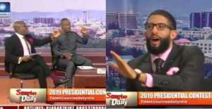 Buhari and Atiku's Campaign Spokespersons, Nearly Came to Blows on Live TV (Video)