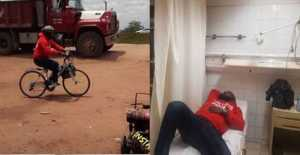 Man Who Rode Bicycle From Owerri to Abuja For Atiku, Collapses
