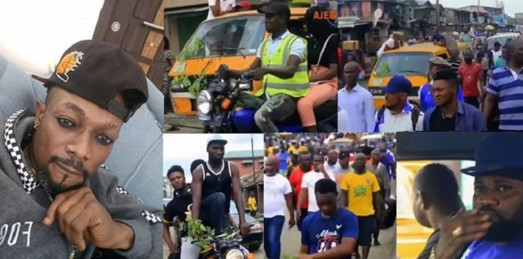 Image result for images of Massive turnout in Ajegunle as body of late mad melon is escorted to the mortuary