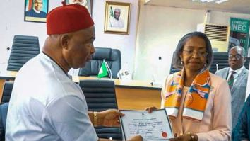 Hope Uzodinma, Hope Uzodinma Receives Certificate Of Return