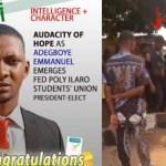 Adegboye Emmanuel Olatunji, Adegboye Emmanuel Olatunji Arrested, SUG President Of Federal Polytechnic Ilaro
