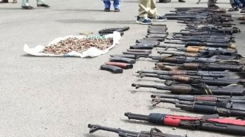 SEE Photos Of 43 Rifles Recovered From Bauchi Forest