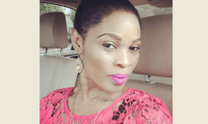 Georgina Onuoha in a car