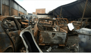 destroyed cars during xenophobic attack2