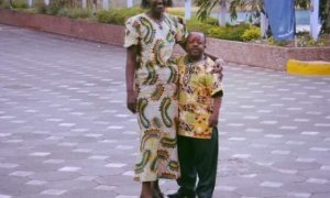 Kenyan woman with her disable short husband
