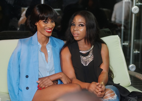 Top model Ishioma Onyeabor (left) and her friend at luxury Edition of LoudNProudLive NYE