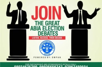 OMPAN, Abia State Chapter, Sets To Hold Election Debates For Political Aspirants in the State