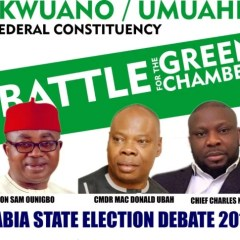ABIA DEBATE 2019: Hon. Onuigbo, Nzechi, and MacDonald Set To Face Each Other For Ikwuano/Umuahia Debate