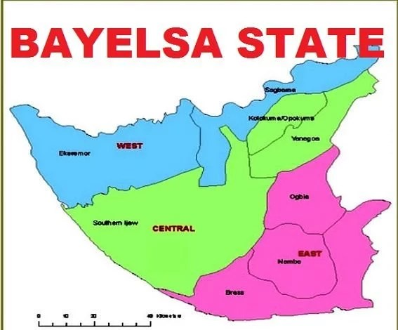 Map of Bayelsa State with details