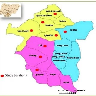 Map of Enugu State with details