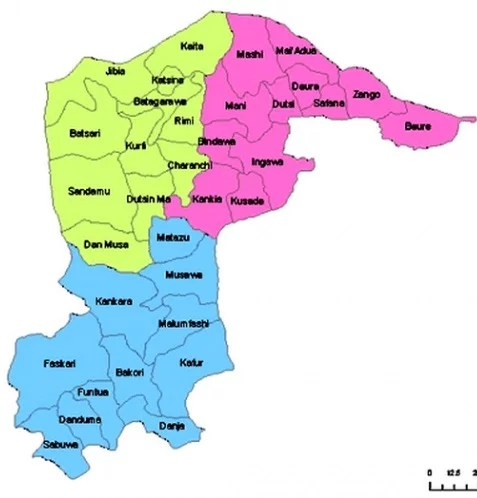 Map of Katsina State with details