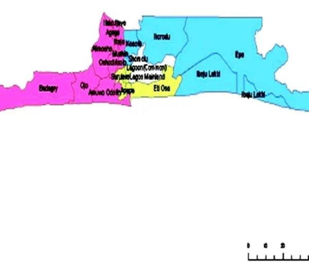Map of Lagos State with details